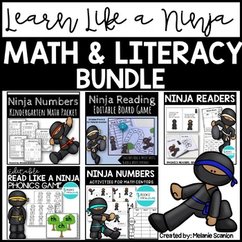 ninja math and reading bundle