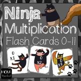 Ninja Multiplication Flash Cards (0-11)