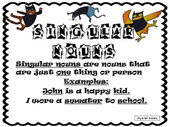Ninja Nouns: Singular and Plural Noun Sort