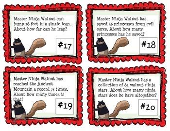 Ninja Number Line Rounding