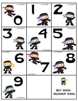Ninja Place Value Card Game