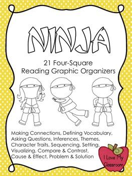 Reading Graphic Organizers {21 Ninja Templates}