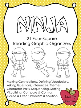 Reading Graphic Organizers {21 Ninja Templates}