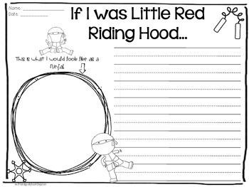 Ninja Red Riding Hood Writing FREEBIE
