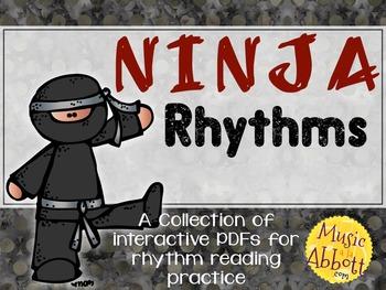 Ninja Rhythms {A Bundled set of rhythm games for reading and inner hearing}