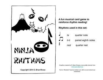Ninja Rhythms Card Game - ta ti-ti rest