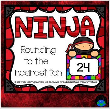 Ninja Rounding to the Nearest Ten Math Station
