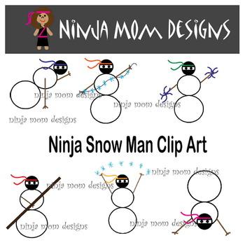 Ninja Snow Man Clip Art