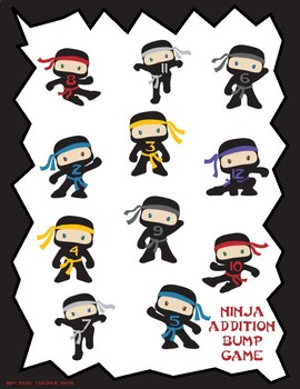 Ninja Themed Addition Bump Game