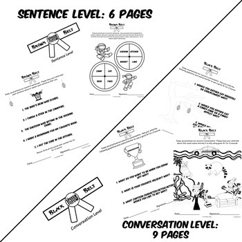 Ninja Themed Articulation Homework for K and G