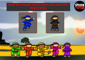 Ninja Themed Before/After Directions Boom Cards Freebie