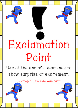 Ninja Themed - Punctuation Posters