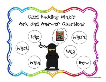 Ninja Themed Reading Standards for Literature and Informational Text