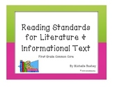 Ninja Themed Reading Standards for Literature and Informat