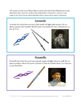 Ninja Turtle Artists-Renaissance