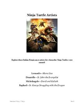 Ninja Turtle Artists Pre-K