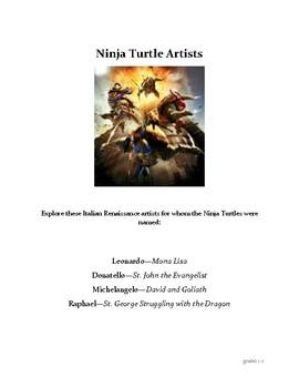 Ninja Turtle Artists grades 1-2