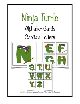 Ninja Turtle Capital and Lowercase letters