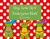 Ninja Turtle Clip it Kindergarten Math, addition, counting, colors!