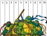 Ninja Turtle Counting Strips