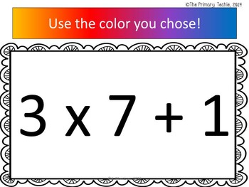 Ninja Turtle Inspired Multiplication - Watch, Think, Color Game!