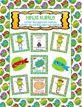 Ninja Turtle Letter Recognition & Sound Recognition Games