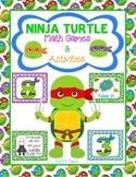 Ninja Turtle Math - 4 Number Games & 5 Activities