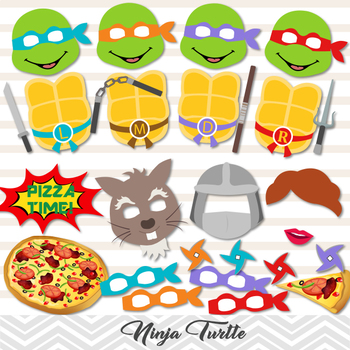 Ninja Turtle Photo Booth Props Ninja Turtle Printable Prop Ninja Party 0378