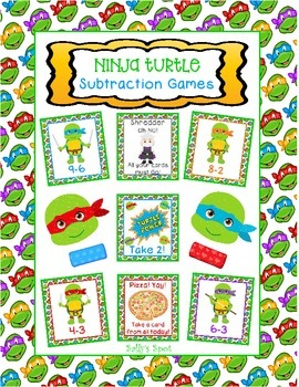 Ninja Turtle Subtraction Games
