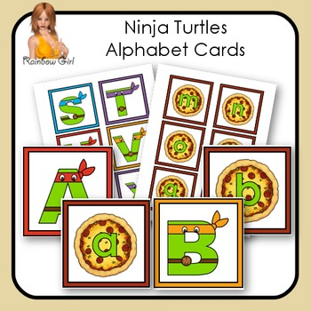 Ninja Turtles Alphabet Cards