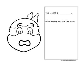 Ninja Turtles Feelings Workbook