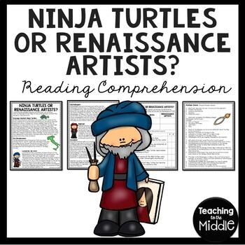 Ninja Turtles or Renaissance Artists? Reading Comprehension Worksheet