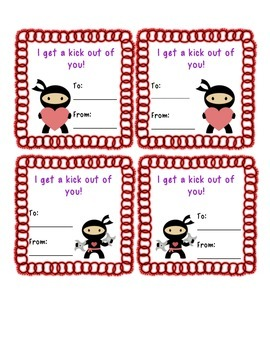 Ninja Valentine's Day Cards