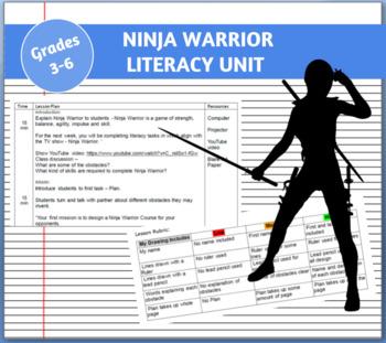 Ninja Warrior Literacy Unit