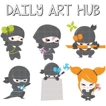 Ninja Warriors Clip Art