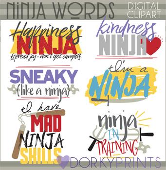 Ninja Words Clip Art