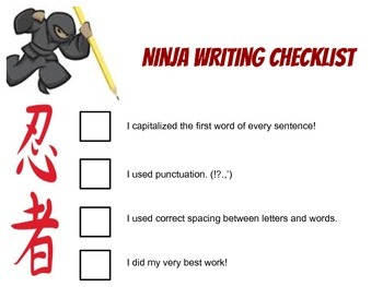 Ninja Writing Checklist