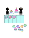 Ninja and Cupcake Themed 10 Frame Games