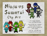 Ninja and Samurai Clip Art