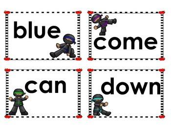 Ninja and Superhero Dolch Sight Words