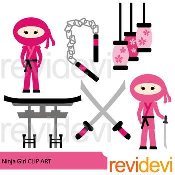 Ninja girl clip art