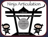 Ninja /s/ Blends: speech therapy, articulation