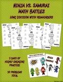 Ninja vs Samurai Math Battles - Long Division