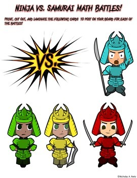 Ninja vs Samurai Math Battles - Two Digit by Two Digit Multiplication