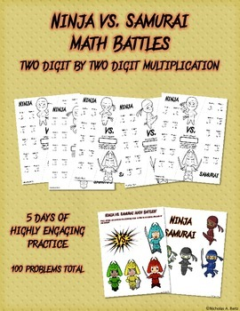 Ninja vs Samurai Math Battles - Two Digit by Two Digit Multiplication