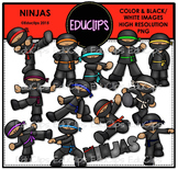 Ninjas Clip Art Bundle {Educlips Clipart}