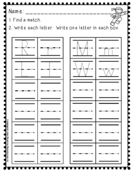 Writing Capital and Lowercase Letters Literacy Centers {EDITABLE!}
