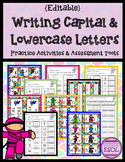 Writing Capital and Lowercase Letters Literacy Centers {ED