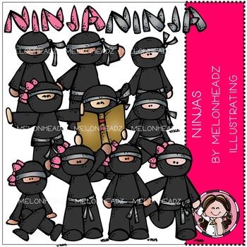 Ninjas clip art - COMBO PACK- by Melonheadz