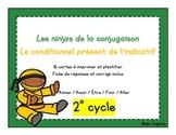 Ninjas du conditionnel présent - Cartes à tâches - 2e cycle